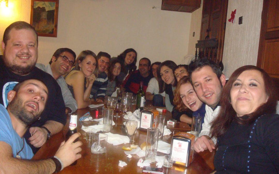 Distintas generaciones de ceniceros unidas en la cena del pasado sábado en Cuenca