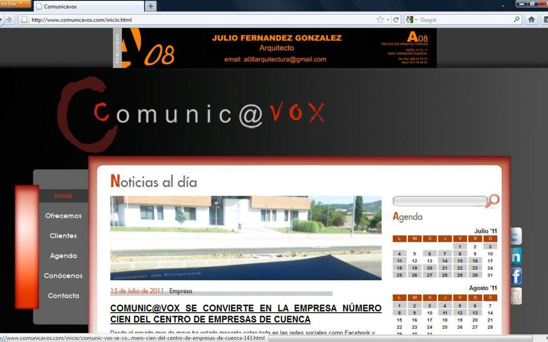 La agencia de comunicación Comunic@vox estrena página web