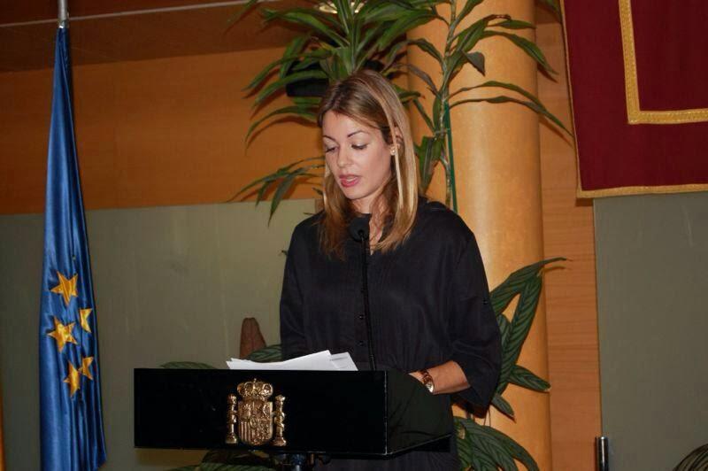 Almudena Murillo en el día contra la violencia de género