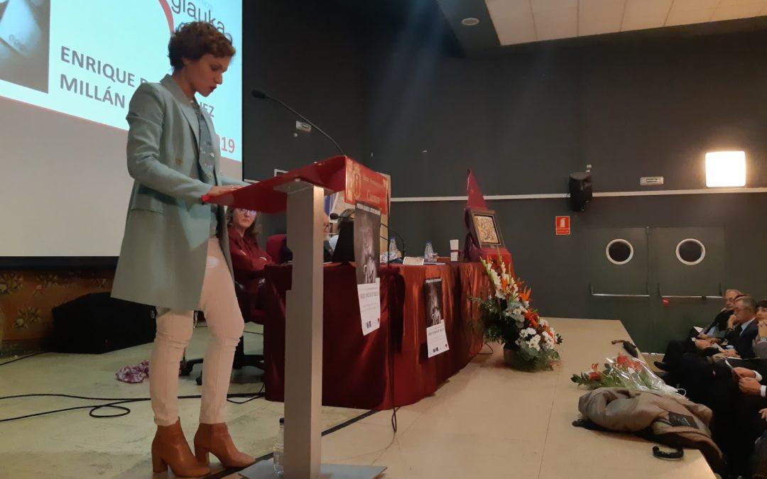 Belén Galletero representando a la Facultad de Comunicación