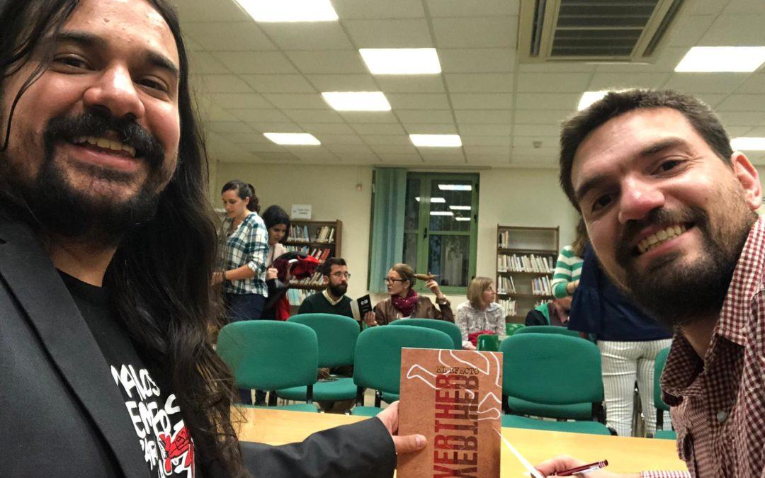 Feria del libro con peoples