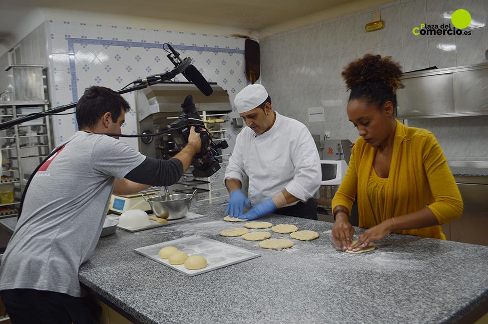 La pastelería «El Goloso» de Tarancón como centro de producción de TVE