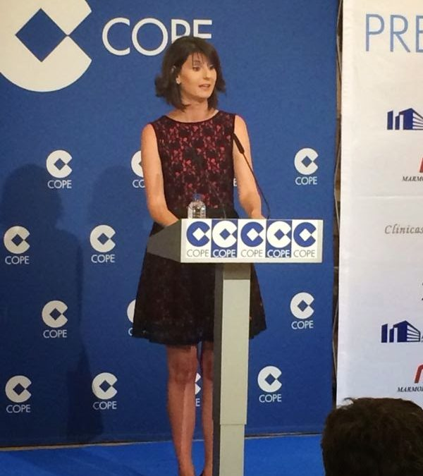 II Premios COPE con Noelia TaxiCope