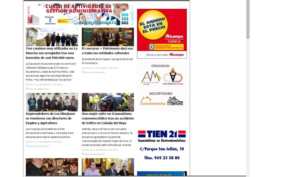 ElDeporteConquense ahora con noticias locales