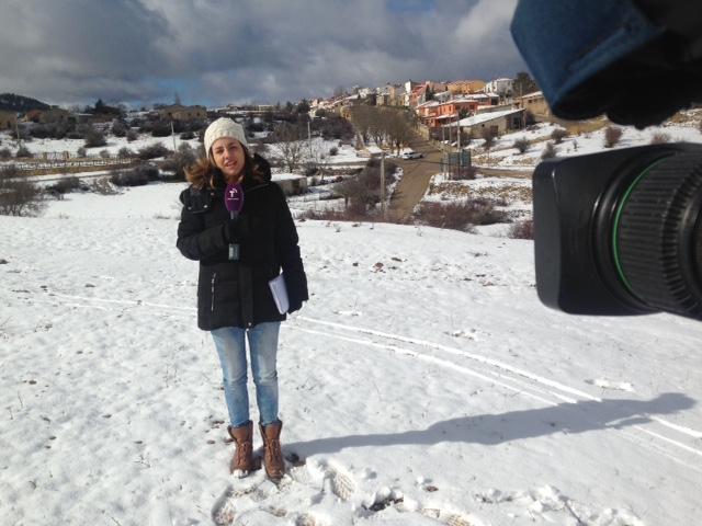 Primer «nevazo» del año con Oriana informando