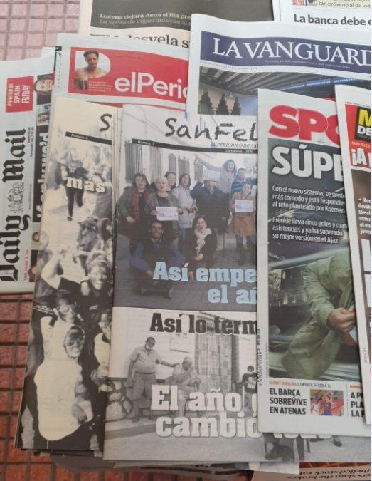 El periódico SanFelices entre nacionales en Madrid